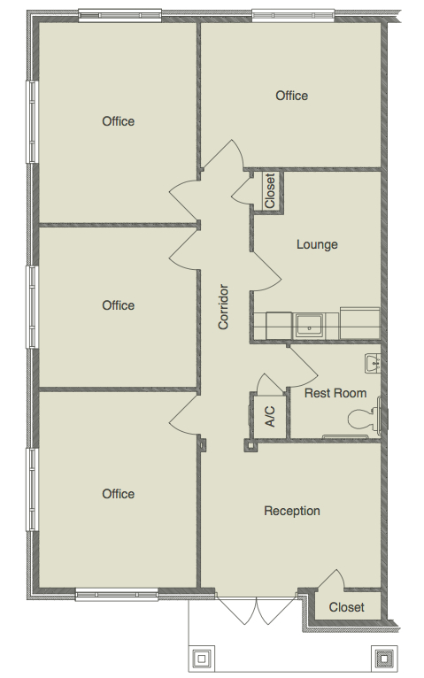 floor plans - grogan's ridge office condominiums - near the